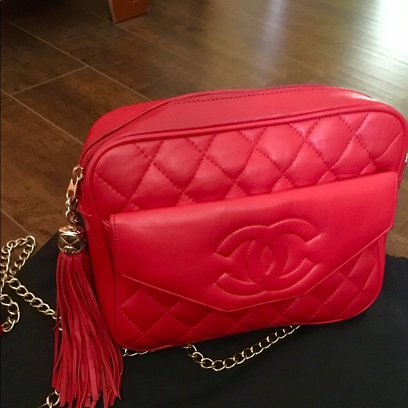 a01e86542f8 CHANEL Bags   Chanle Camera Vintage Lambskin Flap Crossbody Bag ...